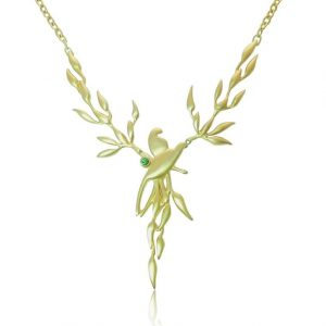 Birds of paradise necklace
