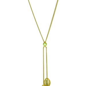 Double palm periodot necklace rev