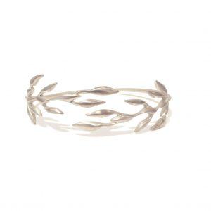 leaf bracelet silver web
